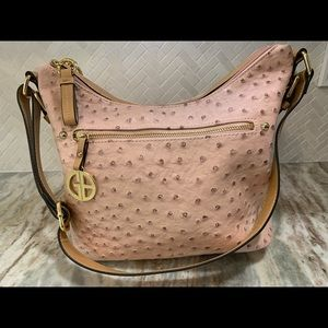 Soft pink textured  purse by Giant Bernini